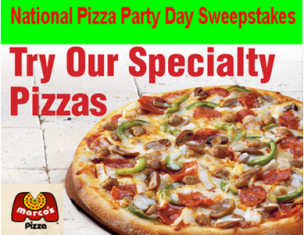 Macro's Pizza – Win 1 of 10 gift certificates for Large Specialty Pizza and 120 LARGE Pizzas by May 17, 2015!