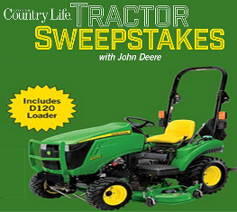 Meredith  – Win a 1 Family Sub-Compact Utility Tractor valued at $14,347 by July 27, 2015!