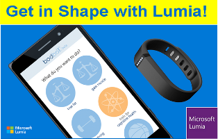 Microsoft Lumia – Win a BodBot Premium Code plus one FitBit Flex and one BodBot Premium Code valued at $4,950 by May 20, 2015!