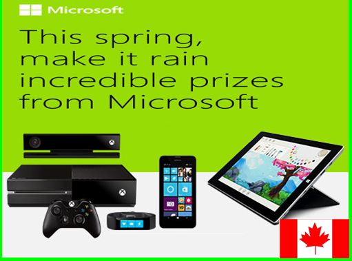 Microsoft Store – Win a Microsoft Gift Card worth up to $500 by May 31, 2015 – INSTANTLY!