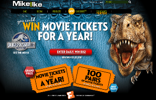 Mike and Ike – Win Movie tickets for a year and 100 pairs of movie tickets by February 28, 2016!