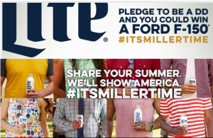 Miller Lite – Win 1 of 2 prizes of a Ford F-150 Truck valued at $40,000 by November 2, 2015