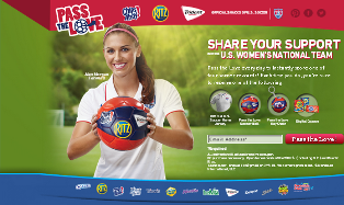 Mondelez – Win a U.S. Soccer home jersey plus  2,632 Pass the Love soccer balls and 2,688 Pass the Love Ball key chains by July 9, 2015