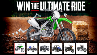 Motosport – Win the 2015 Kawasaki KX450F plus a prize package valued at $13,347 and $500 Weekly prize by August 23, 2015 – WEEKLY!