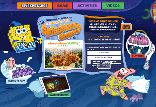 Nick – Win a $10,000 trip for 8 to Orlando, Florida plus 500 SpongeBob tents and  push lights by August 12, 2015 – DAILY!