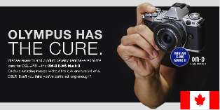 Olympus America – Win One Olympus OMD E-M5 Mark II camera body valued at $1099 by May 31, 2015!