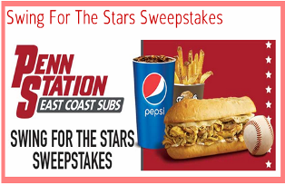 Penn Station – Win a $7,050 trip for 2 to baseball's big midseason game in Cincinnati, Ohio from Pepsi and Penn Station by May 31, 2015!