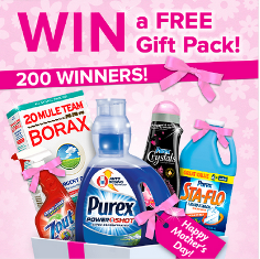 Purex – 200 winners will win a FREE Gift Pack one of each of these products by May 29, 2015!