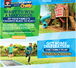 Quaker Oats – Win a $25,000 check plus a $1,000 gift card and $500 gift card for Weekly prizes by June 13, 2015 – WEEKLY!