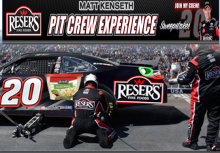 Reser's Fine Foods – a $7,200 trip for 4 to Kansas race week by September 6, 2015!