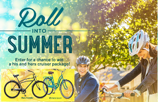 Ride Schwinn – Win 1 of 10 prize packs of a Men's Delmar Cruiser and a Women's Delmar Cruiser plus two helmets by May 31, 2015!