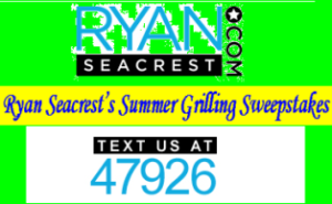 Ryan Seacrest – Win $1000 cash gift card from Ryan Seacrest's Summer Grilling Sweepstakes by May 31, 2015!