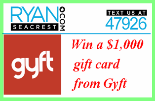 Ryan Seacrest – Win a $1,000 gift card from Gyft by May 10, 2015 – Mother's Day Sweepstakes!