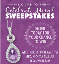 Samuels Jewelers – Win a Sterling Silver White Topaz & Purple Amethyst Necklace valued at $349 on Mother's Day, 2015!