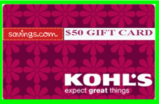 Savings.com – Win 1 of  20 Prizes of a $50 gift card to Kohl's by May 24, 2015!