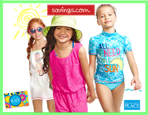 Savings.com – Win 1 of 40 of $25 gift cards to The Children's Place by May 9, 2015!