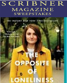 Scribner books – Win a paperback copy of Marina Keegan's The Opposite of Loneliness plus a poster and 9 winners will receive a copy of Marina Keegan's The Opposite of Loneliness by May 18, 2015!