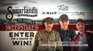 Sugarlands – Win 1 of 10 of a $1,800 weekend travel package for 2 to Gatlinburg, Tennessee to meet the Sugarlands Distilling Co. Legends by July 31, 2015!