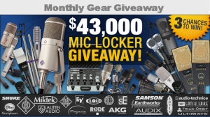 Sweetwater – Win 1 of 3 MIC LOCKERS loaded with amazing mics by May 31, 2015 !