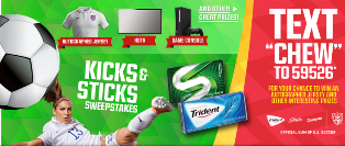 Trident – Win an HDTV plus a Microsoft XBox One Console and more prizes by June 27, 2015 – DAILY!