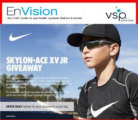 VSP  – Win 1 of 27 pairs of Nike Skylon Ace XV and Nike Skylon Ace XV Junior sunglasses by May 31, 2015!