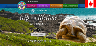 Wheel of Fortune –  Win 1 of 5  a $22,698 Trip of a Lifetime – daily sweepstakes prizes and more by May 16, 2015 – DAILY!
