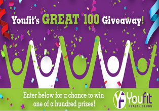 Youfit Health Clubs – Win anything from free-month memberships, a Fitbit Flex to our grand prize of $3,000 cash by May 31, 2015!