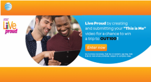 AT&T – Win 1 of 4 prizes of a $3,500 trip for 2 to the 21st Annual OUT 100 event in New York in November 2015 by August 9, 2015!