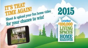 CertainTeed – Vote and Win the $100,000 Living Spaces® Home Makeover Contest for 2015 and more prizes by June 7, 2015!