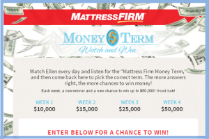 Ellentv – Win up $50,000 cash every  week until July 10, 2015!