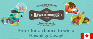 Outrigger Hotels Hawaii – Win a $15,068 trip for 4 to Honolulu, Hawaii and more gifts by June 19, 2015!