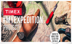 TIMEX – Win 1 of 7 adventures such as Machu Picchu, British Columbia, Costa Rica, Alaska, and more by June 17, 2015!