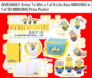 ACM – Win a 1 of 6 Life-Size Minions or 1 of 50 Minions Prize Packs by July 13, 2015!