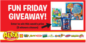Alex Toys – Win a Travel Game Prize Pack and more weekly prizes from Alex Brands Fun Friday Giveaway!