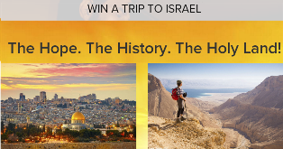 CBN – Win a $8,000 trip for two to tour Israel from Educational Opportunities Tours by August 3, 2015