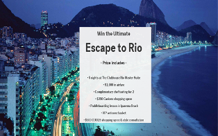 COOLS – Win an ultimate escape for 2  to Rio valued at $4,850 by August 10, 2015