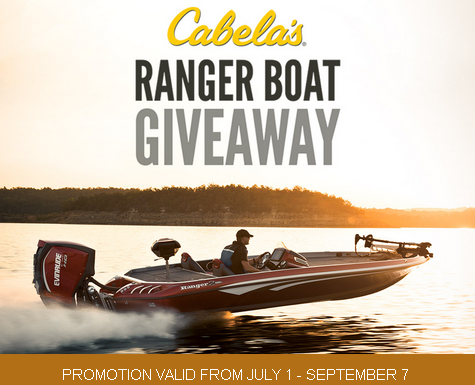 Cabelas – Win One Ranger 520Z  Bass  Series  Comanche Boat Prize and more valued at $75,000 by September  7,  2015