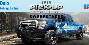 Chevron – Win one 2015 Ford F250 Truck  valued at $55,610 and 10 first Prizes Packages by August 31, 2015