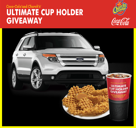 Coca Cola – Win an all new 2015 Ford Explorer plus a $2,500 prepaid gift card and a tons of great prizes by August 21, 2015 – INSTANTLY!