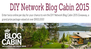 DIY – Win a house located in Couer D' Alene, Idaho valued at $900,000 and $50,000 check by September 11, 2015