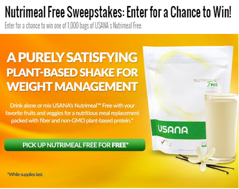 Doctoroz – Win 1 of 1,000 bags of USANA Nutrimeal Free by July 14, 2015