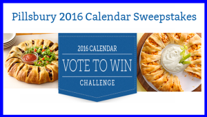General Mills – Win 1of 25,000 prizes of a  2016 Pillsbury calendar by August 2, 2015 – WEEKLY!