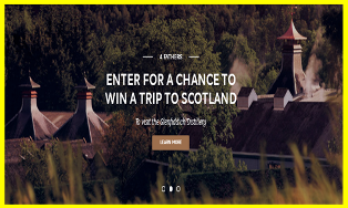 Glenfiddich – Win 1 of 4 prizes of a $2,500 trip for 2 to New York City by August 31, 2015!