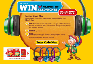 Kellogg – Win 1 of 2,880 Grand Prizes of Monster N-Tune On-Ear Headphones valued at $129 by October 28, 2015 – INSTANTLY!