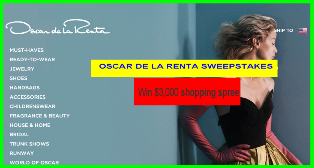 Oscar de la Renta & Clique – Win $3,000 shopping spree by July 31, 2015!