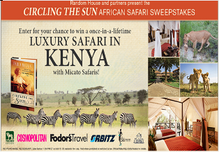 Random House – Win a lifetime luxury safari for 2 in Kenya and more books by September 8, 2015!