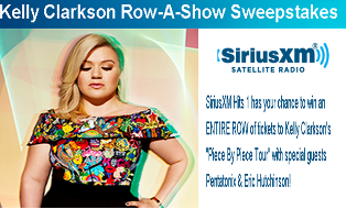 Siriusxm – Win 1 o 35 prizes of 20 tickets to see Kelly Clarkson in concert in 2015 and more prizes  by September 4, 2015