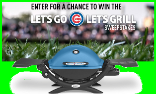 Weber – Win a Weber Q 1200 prize package every day plus one Weber and Chicago cubs grand prize by July 26, 2015!
