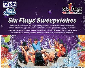 Welch's Fruit Snack – Win a Six Flags Season Pass plus win tickets and delicious Welch's® Fruit Snacks by August 15, 2015 – INSTANTLY!