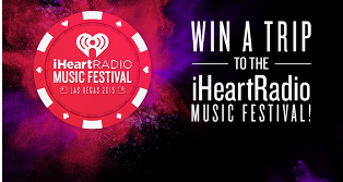 iHeartRadio – Win the first trip to the 2015 iHeartRadio Music Festival valued at $3,290 by July 30, 2015.